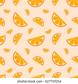 Seamless pattern orange fruit. Vector illustration.