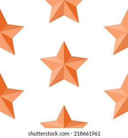 A seamless pattern of an orange vector star