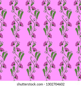 Seamless pattern, ornament of small delicate wildflowers. Textile printing Wallpapers, fabrics, scarves, covers, bandanas.