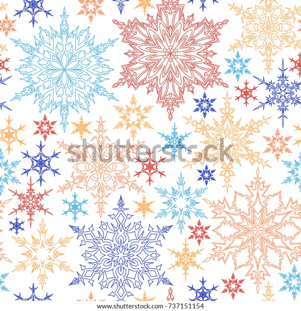 seamless pattern outline blue yellow 600w 737151154