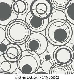 Seamless Pattern overlapping circles vector