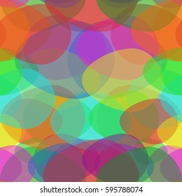 Seamless Pattern Painted Eggs. Holy Easter. Seamless Texture for background image on websites, e-mails, etc. Cream-colored Background.