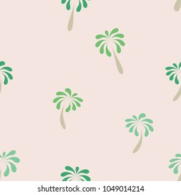 Seamless pattern with palm trees. Vector, illustration.