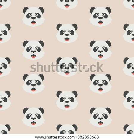 Seamless pattern with panda, cute panda vector art background design for wallpaper and fabric,