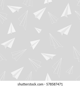 Seamless pattern of paper air plane