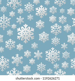 Сhristmas seamless pattern of paper snowflakes. EPS 10