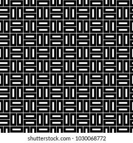 Seamless pattern with parquet ornament. Bricks cladding floor. Rectangle slabs tessellation image. Repeated stones ornamental background. Mosaic motif. Flooring wallpaper. Digital paper. Vector art.