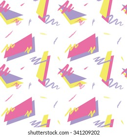 Seamless pattern with pastel pencil strokes in retro 80s style 3