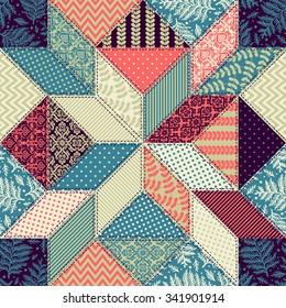 Seamless pattern. Patchwork.
