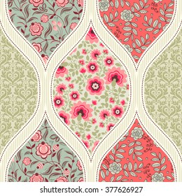 Seamless pattern. Patchwork