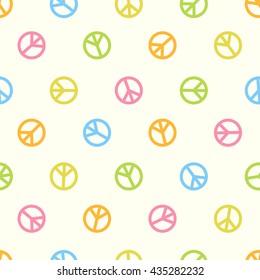 Seamless pattern -  peace symbol