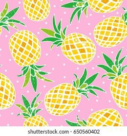 Seamless pattern of pineapple