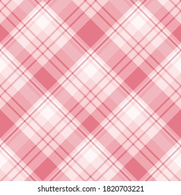 Seamless pattern in pink colors for plaid, fabric, textile, clothes, tablecloth and other things. Vector image.