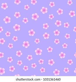 Seamless pattern with pink flower on pink background. Vector