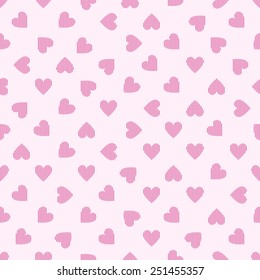 seamless pattern with pink striped hearts