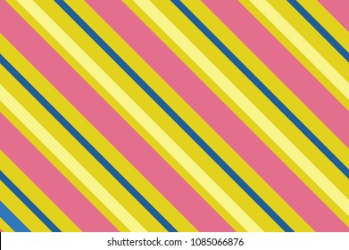 Seamless pattern. Pink Stripes on yellow background. Striped diagonal pattern For printing on fabric, paper, wrapping, scrapbooking, websites, banners Background with slanted lines Vector illustration