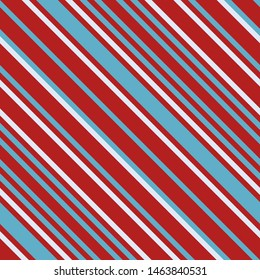 Seamless pattern. Pink-red-blue stripes on white background Striped diagonal pattern for printing on fabric, paper, wrapping, scrapbooking, websites Background with slanted lines Vector illustration
