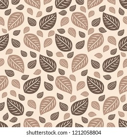 Seamless pattern with plant pattern from leaves.