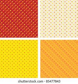 Seamless pattern pois orange yellow
