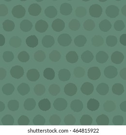 Seamless pattern Polka green color on a green background. Vector illustration.