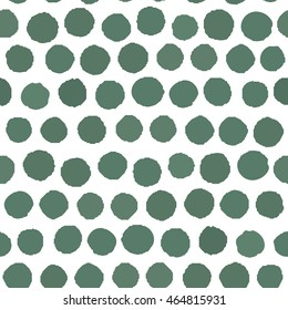 Seamless pattern Polka green white background. Vector Illustration.