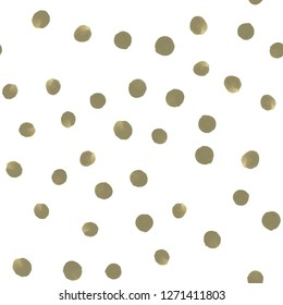Seamless pattern in Polka-Dot. Perfect for your design, textile,  pattern fills, posters, cards, web page background etc. Pattern under the mask. Vector.