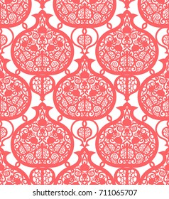 Seamless pattern with pomegranates.