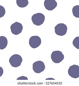 Seamless pattern of purple dots on a white background. Vector.