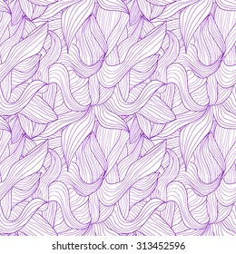 Seamless pattern of purple petals on a white background.