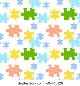 Seamless pattern puzzle.Vector background