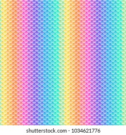 Seamless pattern with rainbow scale ornament vector illustration