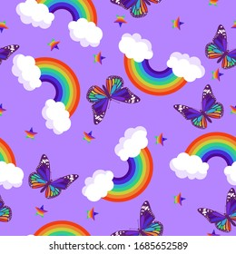 Rainbow Butterfly Images Stock Photos Vectors Shutterstock
