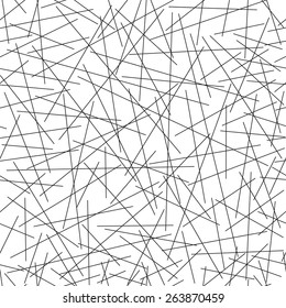 Seamless pattern of random lines, chaotic line, vector illustration