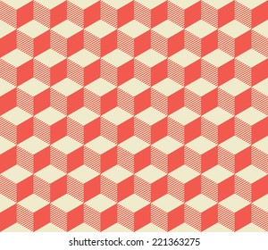 seamless pattern from red cubes