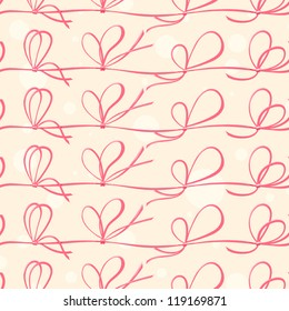 Seamless pattern with red ribbons. vector illustration