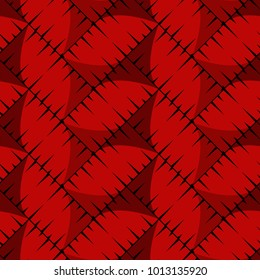 seamless pattern red twill weave with clear lines