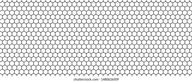 Seamless Pattern with Repeat hexagon grid cells on white background.