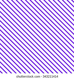 Seamless pattern of repetitive sloping strips of bright purple and white thin wide.