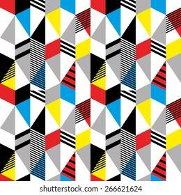 Seamless pattern in retro bauhaus style 2