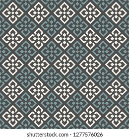 Seamless pattern with retro elements.