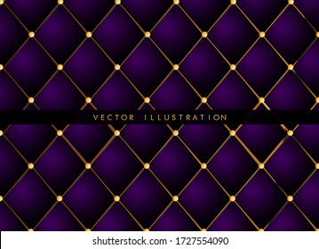 seamless pattern in retro style with a gold crown. Can be used for premium royal party. Luxury template with vintage leather texture. Invitation card