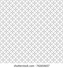 Seamless pattern of rhombuses and circles. Geometric background. Vector illustration. Good quality. Good design.
