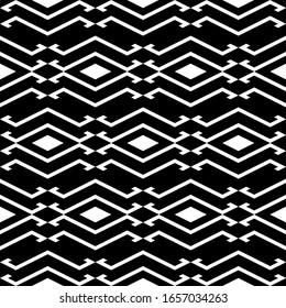 Seamless pattern. Rhombuses, figures ornament. Geometrical background. Diamonds, shapes wallpaper. Geometric backdrop. Digital paper, textile print, web design, abstract. Ethnic motif. Vector artwork.