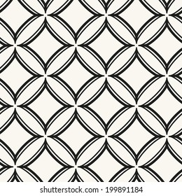 Seamless pattern with rhombuses. Vector abstract background. Stylish cell structure