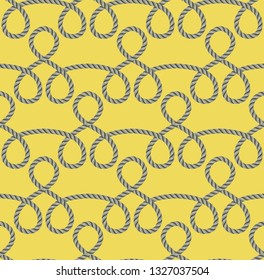 Seamless pattern of ropes. Vector Illustration, great for wallpaper, textile pattern or background images.