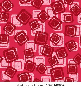 A seamless pattern of rounded squares of different colors. Especially suitable for women and children.