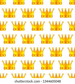 Seamless pattern of the royal crowns