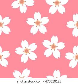 seamless pattern. sakura. vector illustration