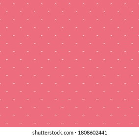 Seamless pattern of sea bows in salmon, red, pink, graphic, geometric, abstract, minimal, retro, vintage, sweet happy kids background illustration in vector