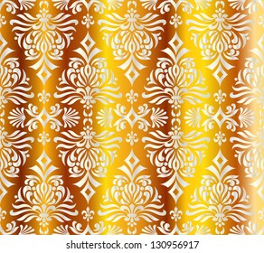 seamless pattern with shapes like Christmas trees